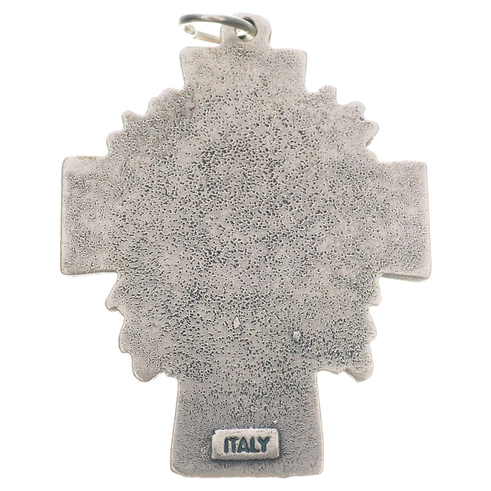 Pendente croce Gesù Divina Misericordia 4