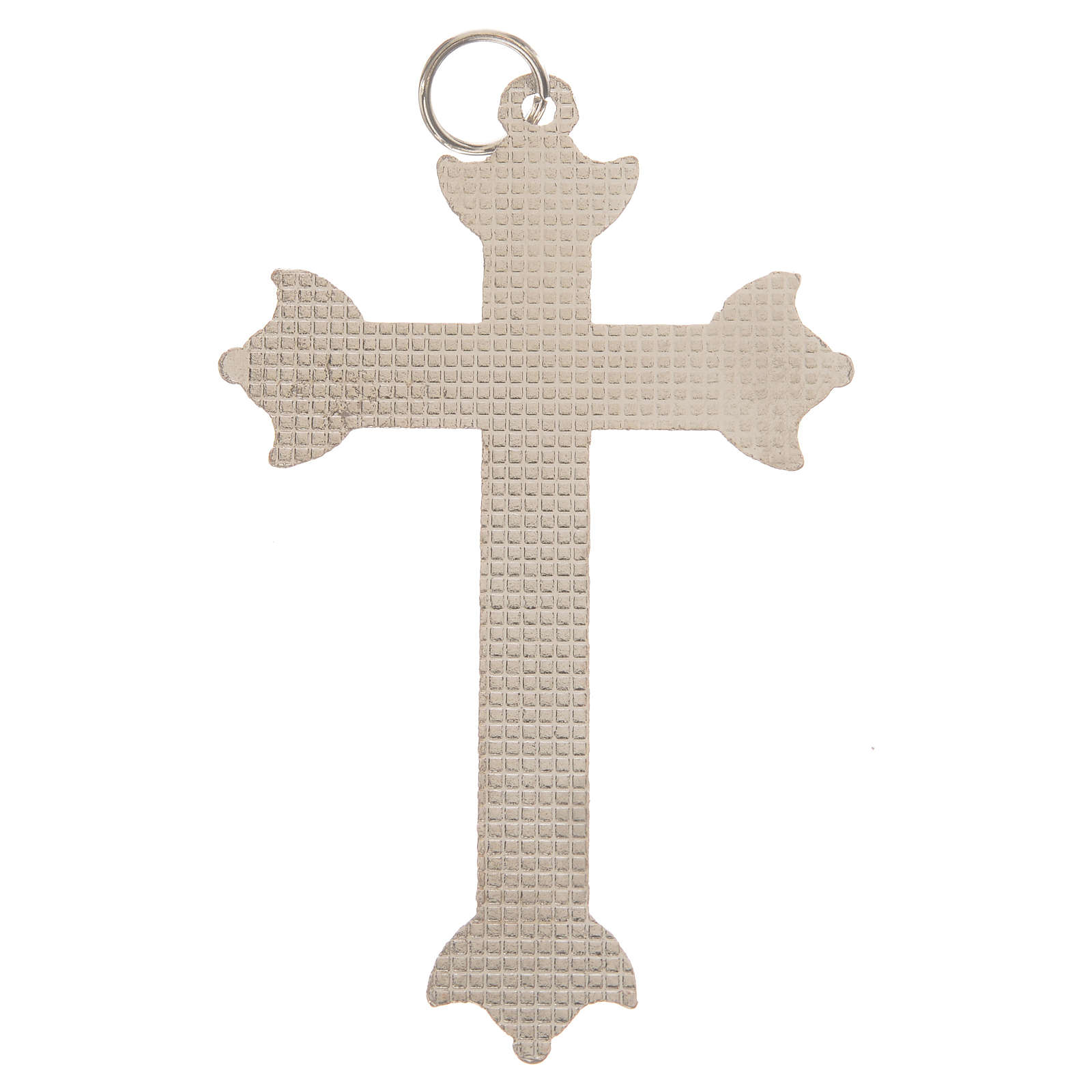 Cross in metal with strass 7 cm 4