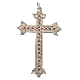 Croce in metallo e strass 7 cm s1