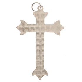 Croce in metallo e strass 7 cm s3