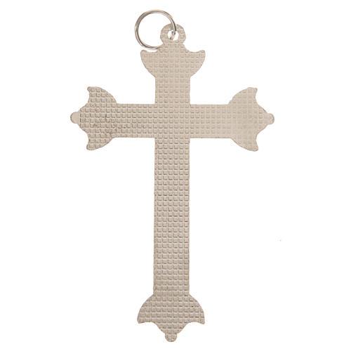 Croce in metallo e strass 7 cm 3