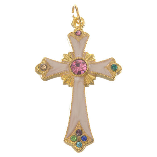 Pendant cross in gold metal 1