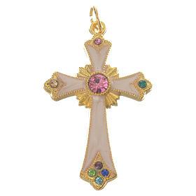 Croix pendentif métal doré s1