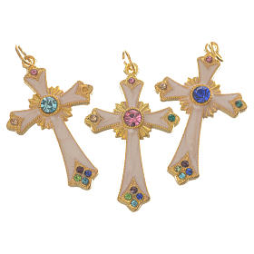 Croce pendente metallo dorato s2