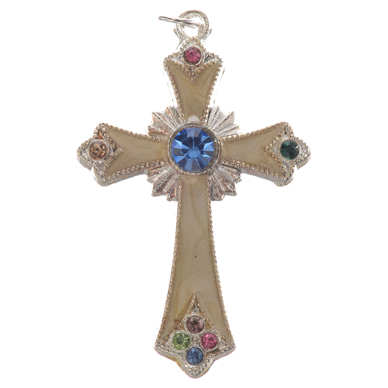 Pendant cross in silver metal 4