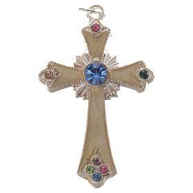Croix pendentif métal argenté s1