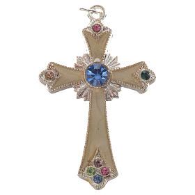 Pendant cross in silver metal s1
