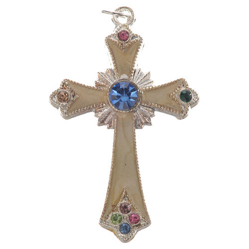 Pendant cross in silver metal 1