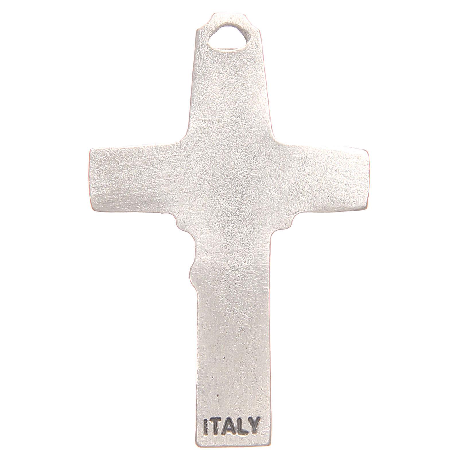 Croce pendente pastore pecora galvanica argento antico 4