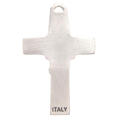 Croce pendente pastore pecora galvanica argento antico 2