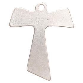 Krzyż tau Pax et Bonum galwanizowane srebro s2