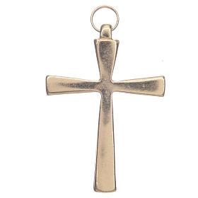Croce metallo dorato smalto rosso cm 7 s2