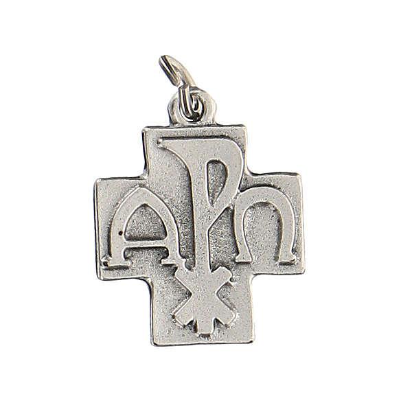 Colgante en forma de cruz Pax 2 cm zamak 4