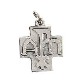 Colgante en forma de cruz Pax 2 cm zamak s2