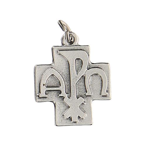 Colgante en forma de cruz Pax 2 cm zamak 2