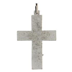 Colgante en forma de cruz con árbol de la vida azul 5 cm zamak s2