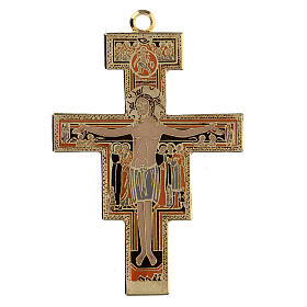 Cross pendant St. Damian coloured enamel s1