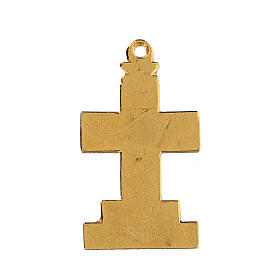Cross pendant with enameled background and decor s3