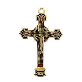 Enamelled crucifix pendant s1