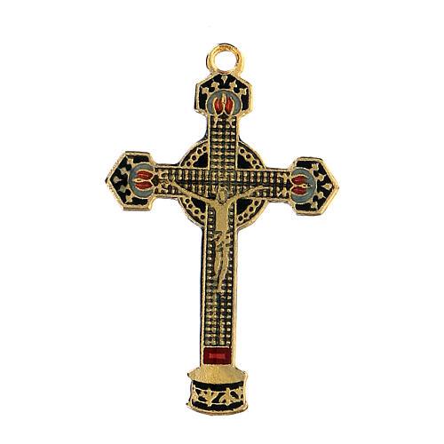Enamelled crucifix pendant 1