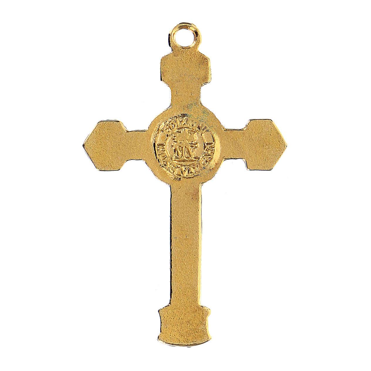 Colgante crucifijo esmaltada 4