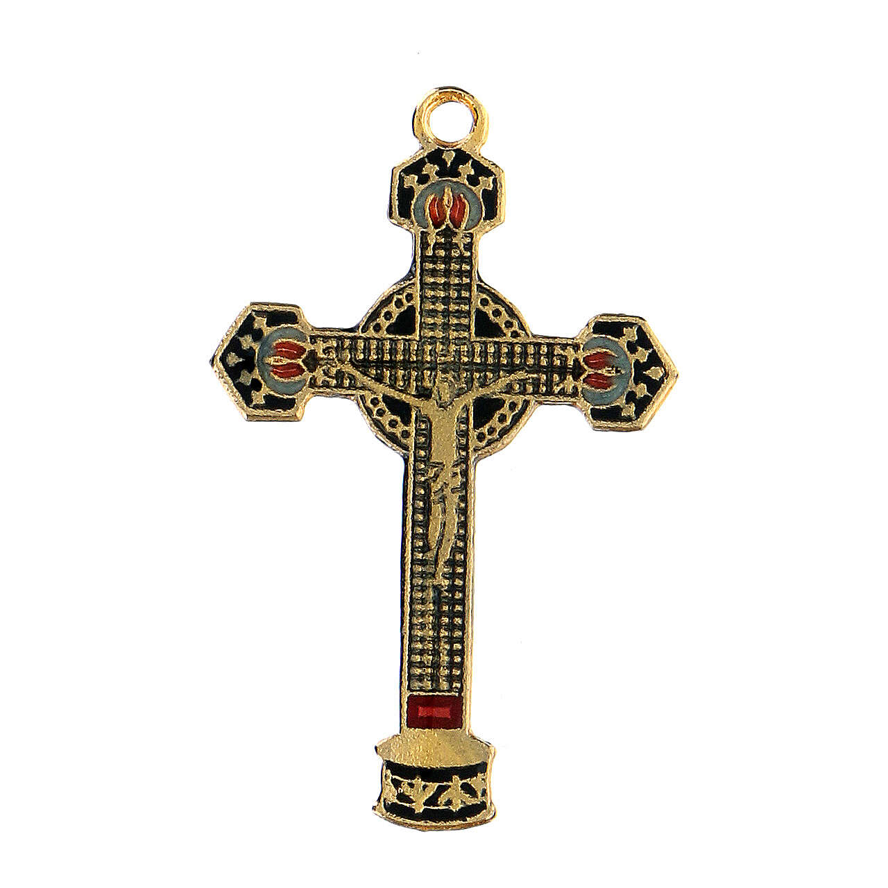 Pingente crucifixo esmaltado 4
