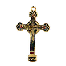 Pingente crucifixo esmaltado s1
