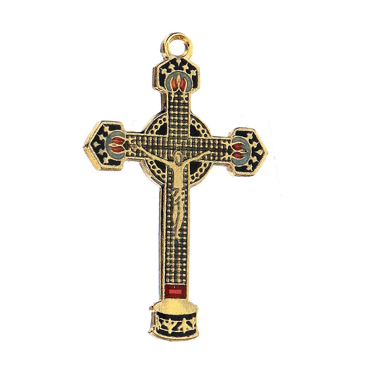 Enameled crucifix pendant 4