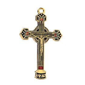 Enameled crucifix pendant s2