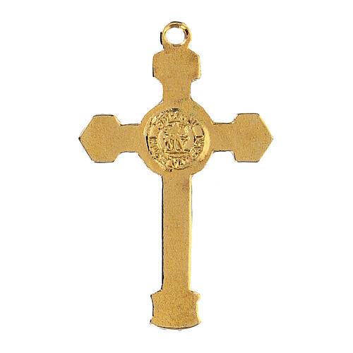 Enameled crucifix pendant 3