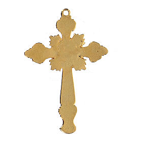 Cross pendant two-toned with strass s2