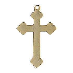 Crucifix pendant with coral decorations s3