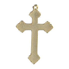 Crucifix pendant with light blue enamel s3