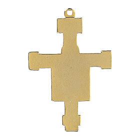 Byzantine style enamelled crucifix pendant s3