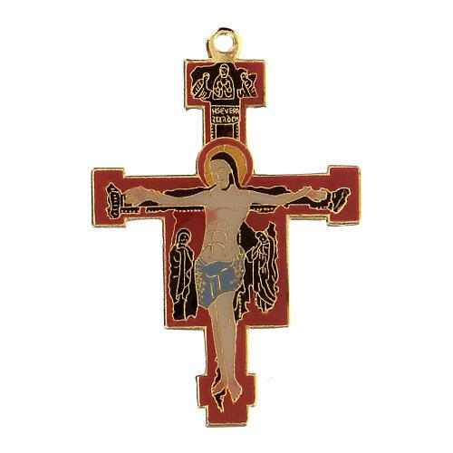 Byzantine style enamelled crucifix pendant 1
