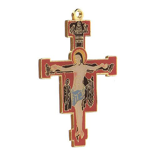 Byzantine style enamelled crucifix pendant 2