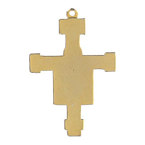 Byzantine style enamelled crucifix pendant 3