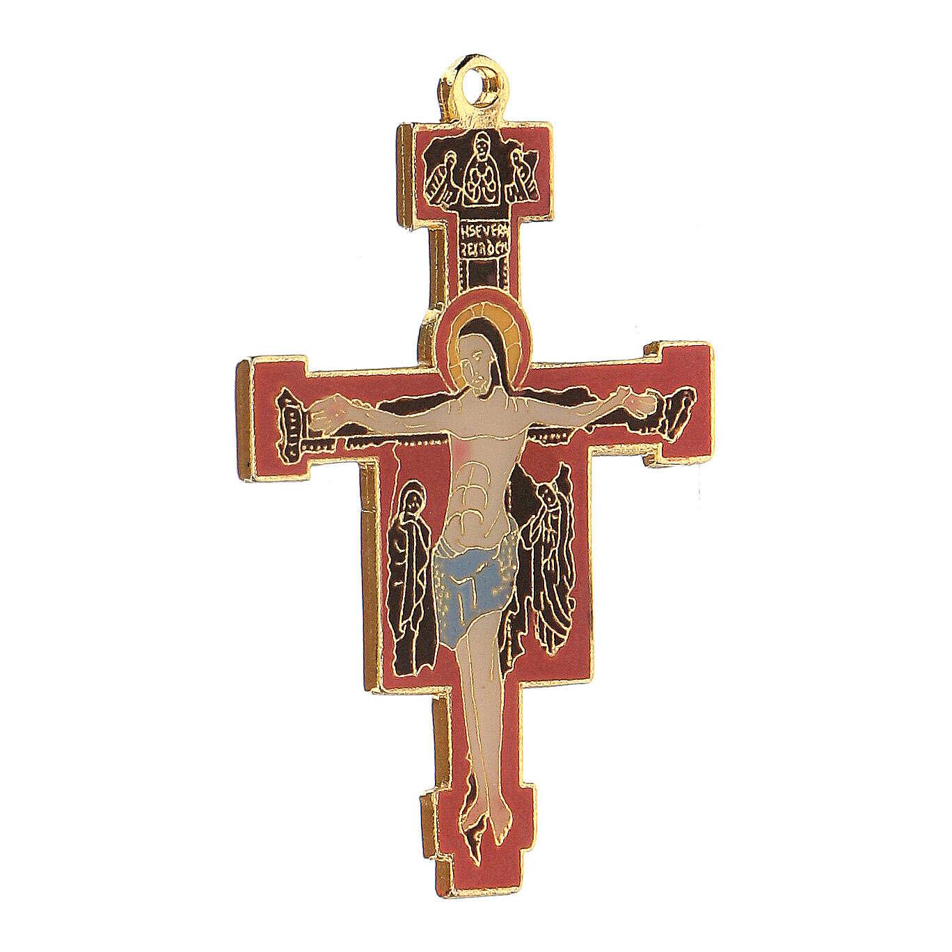 Crucifijo colgante esmaltado estilo bizantino 4