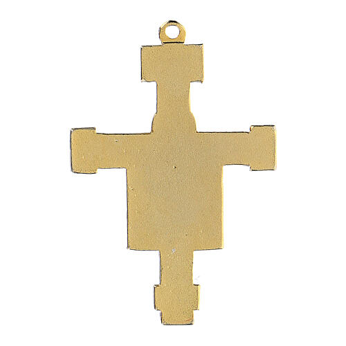 Crucifix pendant enameled Byzantine style 3