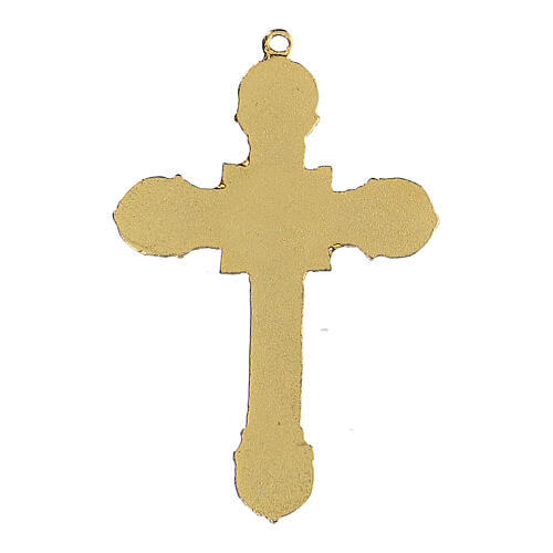 Croix métal pendentif émaillé 3