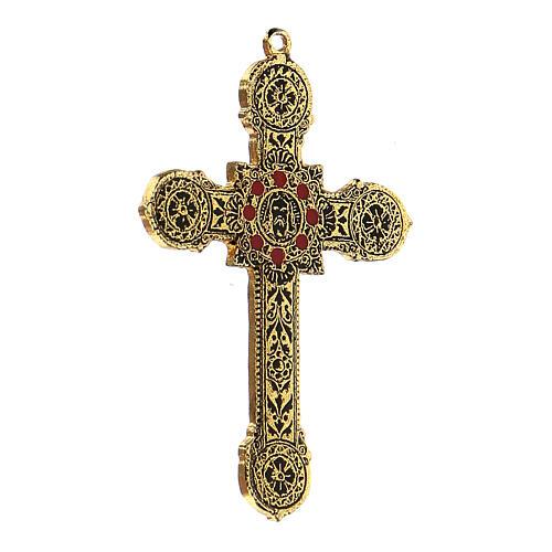 Pingente cruz metal decoração elegante com esmaltes 2