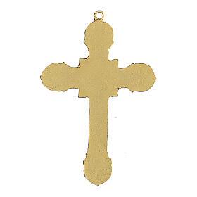 Metal cross pendant enameled s3