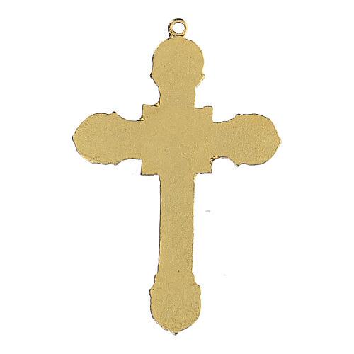 Metal cross pendant enameled 3