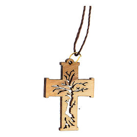 Collar colgante perforado Árbol Vida madera olivo Belén s2
