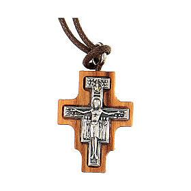Croce san Damiano legno olivo 2 cm