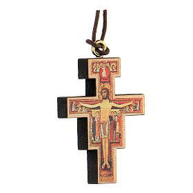 Pendente croce san Damiano con stampa