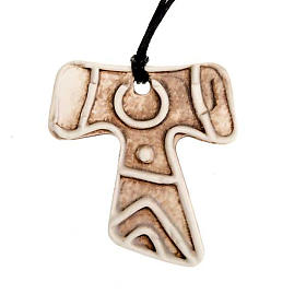 Mini Tau cross pendant s4