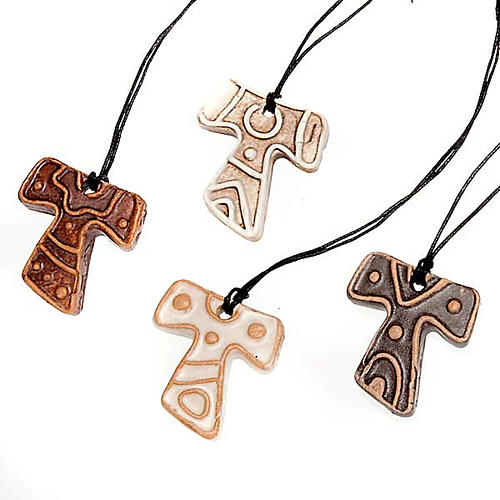 Mini Tau cross pendant 1