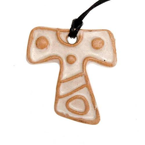 Mini Tau cross pendant 3