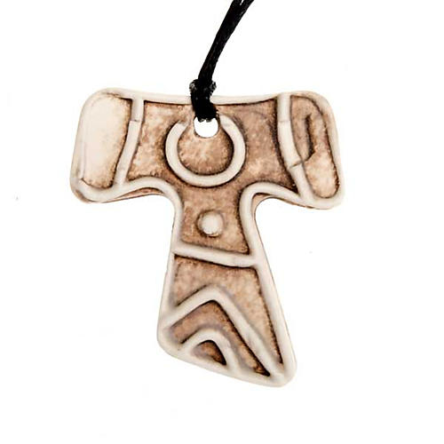 Mini Tau cross pendant 4